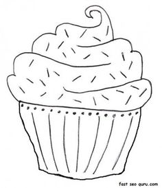 printable blueberry muffin birthday cake coloring page - Printable Coloring Pages For Kids