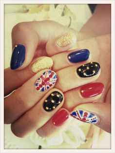 Olympic nail design