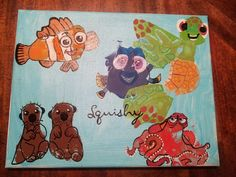 finding dory hand and footprint art Infant Crafts, Baby Crafts, Crafts For Kids, Footprint Art, Finding Dory, Disney Theme, Nicu, Hobbies, Learning