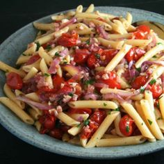 Roasted Tomato & Pancetta Penne | thebrookcook