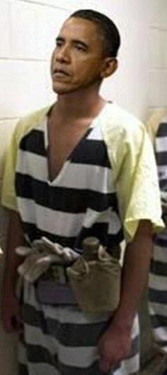 Obama as convict