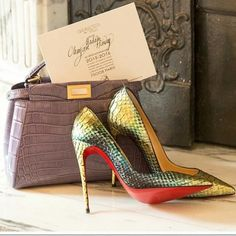 ready for weekend christian louboutin so kate python mermaid red sole pump in mimosa; Wish list and beautiful styles from ModeSens for designer shoes, bags, and cloth! Sexy High Heels, Python, Crocodile, Louboutin Shoes, Shoes Heels, Nike Shoes, Flats, Marjorie Harvey, Christian Louboutin So Kate