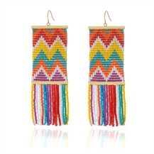 Big, colorful earrings.