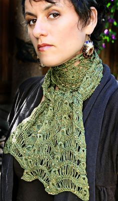 Crochet, Broomstick Lace Pattern - Crochet Lace Scarves