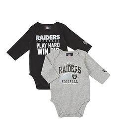 5705833b9 Black   Silver Oakland Raiders Long-Sleeve Bodysuit Set - Infant. Long  Sleeve BodysuitCincinnati BengalsOakland ...