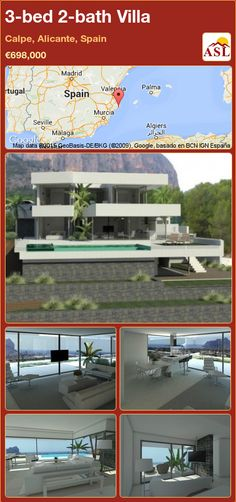 3-bed 2-bath Villa in Calpe, Alicante, Spain ►€698,000 #PropertyForSaleInSpain