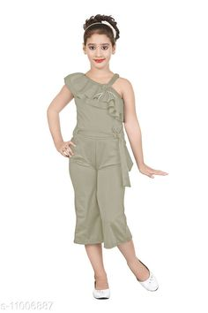 Checkout this latest Dungarees & Jumpsuits Product Name: *Solid Jumpsuit for girls* Fabric: Polycotton Sleeve Length: Sleeveless Pattern: Solid Multipack: 1 Sizes:  3-4 Years, 4-5 Years, 5-6 Years (Length Size: 28 in)  6-7 Years Country of Origin: India Easy Returns Available In Case Of Any Issue   Catalog Rating: ★4.2 (2111)  Catalog Name: Modern Stylish Kids Girls Dungarees & Jumpsuits CatalogID_2041016 C62-SC1156 Code: 143-11006887-828
