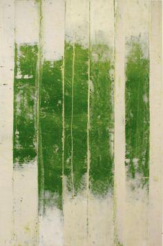'Revealed #1' (2009) by American painter Doug Glovaski (b.1951). Oil & wax on paper. via King Creative