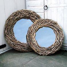 Large Round Driftwood Mirror - Lattice - CoastalHome.co.uk: Driftwood