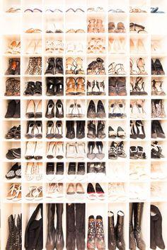 Inside Dermatologist Dr. Tina Alster's Closet: High Heel and Boot Closet, all by Various Designers | coveteur.com