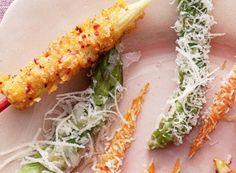 Spargelspitzen mit Parmesan