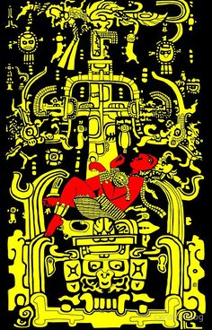 Ancient Astronaut - yellow & red version