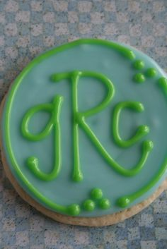 monogram cookie...baby shower gift