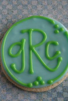 monogram cookie...baby shower gift