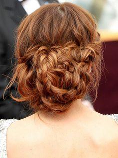 Maria Menounos - Oscars 2014 #braids #bun #knots