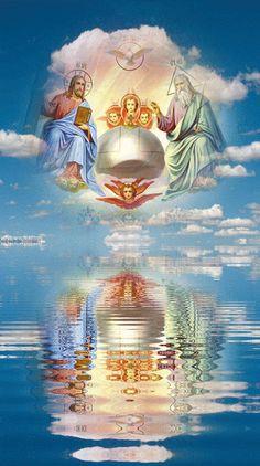 Dios Trino y Uno.   La Santísima Trinidad: Dios Padre, Dios Hijo y Dios Espíritu Santo.