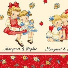 FABRIC DEAR LITTLE World Margaret and by DorothyPrudieFabrics