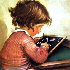 School Days/ Jessie Willcox Smith--one of my favorite illustrators of childrens books.