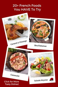 Traditional French food you need to eat in France or cook at home. What to eat in Paris including baguette, beef burgundy, bouillabaisse, calvados, canard a l'orange, cassoulet, coq au vin, creme brulee, crepe, croissant, Croque Monsieur, Croque Madame, Croque Provencal, eclair, escargot, cheese, macarons, wine, and profiteroles. Or relive your France vacation by making these French dishes at home. #Paris #France #Europe #EUTravel