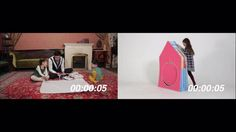 Accordion Play House-a foldable playhouse for small spaces
