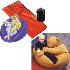 Amazon.com: Kwik Sew Beanbag Chairs Sleeping Bags & Stuff Bags Pattern By The Each: Arts, Crafts & Sewing
