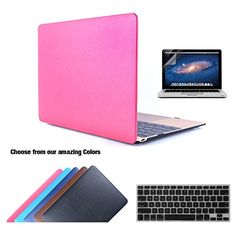 TECOOL ® 3 in 1 Leather Hard Case Leatherette Soft-Touch…
