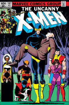 X-Men #167 Marvel Comics - Death of Professor Xavier by Paul Smith