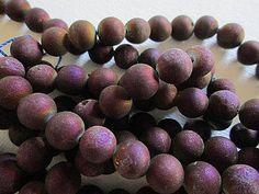 Druzy Quartz Bead Purple Brown Coated Plated Druzy 8mm by FLcowgirls #beadsforsale #druzy