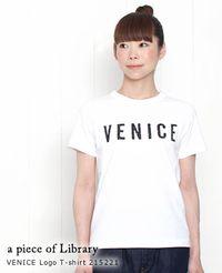 a piece of Library [ア ピース オブ ライブラリー] VENICE 半袖 ロゴ Tシャツ 3色