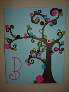 button tree, I am gonna try this soon Diy Arts And Crafts, Crafts To Make, Fun Crafts, Crafts For Kids, Creative Crafts, Button Tree, Crafts For Seniors, Art Party, Living At Home