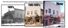 324 North Bridge Street throughout the years - Chippewa Falls, WI