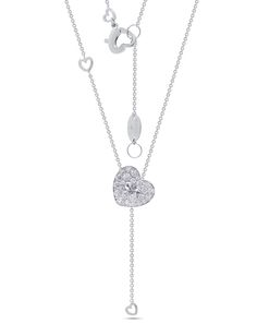 Chain my heart by Stenzhorn. Heart shape shirt button pendant in white gold and white diamonds