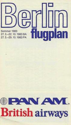 Pan Am / British Airways, Berlin Timetable (1983)