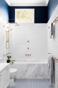 If always believed that freestanding bathtubs are the height of luxury: think again. This gallery of inspiring inset bathtub design ideas wi. 20 inset bathtub design ideas that steal the spotlight, Diy Bathroom, Bathroom Renos, Modern Bathroom, Master Bathroom, Bathroom Styling, Bathroom Marble, Bathroom Cabinets, Mosaic Bathroom, Blue Bathroom Tiles
