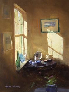 ◇ Artful Interiors ◇ paintings of beautiful rooms - Colley Whisson
