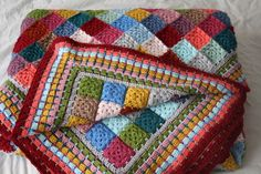 mareelovescolour: Giant Granny Patches Blanket. Inspiration.