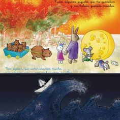 Parts of #drawings of a #childrensbook with which I participated in a contest of my art school whose prize was to go to #bolognabookfair. It was about #animal families running away from their forest when it burns and look for a new home, as a kind...