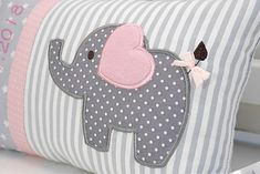 Personalized pillow for birth or baptism eefant pink cotton fabric cuddly pillow childrens pillow name pillow baby Personalisiertes Kissen zur Geburt oder Taufe Eefant rosa Fluffy Pillows, Baby Pillows, Kids Pillows, Small Elephant, Little Elephant, Quilt Baby, Cuddle Pillow, Personalized Pillows, Baby Sewing