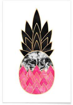 Precious Pineapple 2 en Affiche premium par Elisabeth Fredriksson | JUNIQE