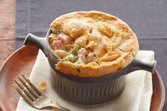 Ham and Cheese Pot Pie Recipe | Kitchen Daily
