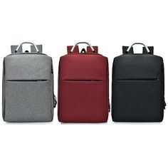 bbe155b9d1 Waterproof Business Laptop Computer Bag with USB Charger Travel Bag For Men  Women High Quality Laptop