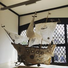 "Paper ""Galleon"" installation, The Tudor House, Southampton ⚓️"