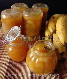 confiture de bananes à la vanille - cuisine à 4 mains