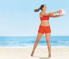 Volleyball Workout With Misty May-Treanor: Workouts: Self.com:Torch serious calories in minutes with high-energy exercises that net beach volleyball players whistle-worthy results.