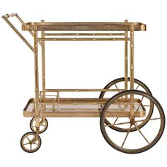1stdibs - Vintage Maison Bagues Brass & Glass Bar Cart explore items from 1,700  global dealers at 1stdibs.com