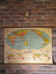 vinage pull down world map., I don't know why I want it.....but i do :)