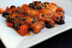 Flattened Chicken with Tomatoes, Olives & Capers #glutenfree