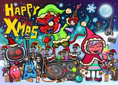Urban Devil - HAPPY WHAT THE DEVIL XMAS to everyone  & Let's get WASTED~!!!   / Creator, Characters and Illustrations by PEPPERJERRY