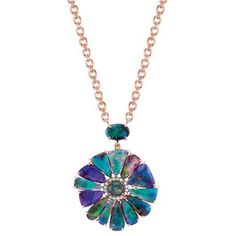 Irene Neuwirth 18k rose gold pendant necklace with 18.06 cts. t.w. boulder opals, 4.88 cts. t.w. Lightning Ridge opals, and 0.2 ct. t.w. diamond pavé; $22,500