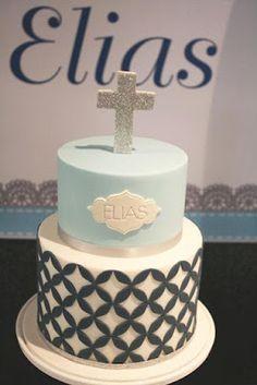 Couture Cupcakes & Cookies: Elias' Christening Cake